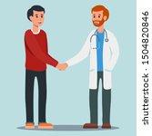 flat vector doctor and patient...   Shutterstock .eps vector #1504820846