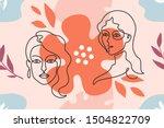 one line background. modern... | Shutterstock .eps vector #1504822709