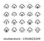 cloud computing line icons.... | Shutterstock .eps vector #1504823249