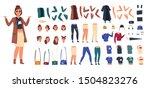 cartoon character constructor.... | Shutterstock .eps vector #1504823276