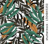 tropical seamless pattern with... | Shutterstock .eps vector #1504845353