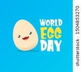 world egg day greeting card... | Shutterstock .eps vector #1504853270