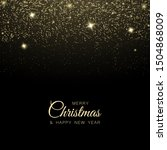 christmas and new year glitter... | Shutterstock .eps vector #1504868009