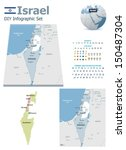 vector israel political and... | Shutterstock .eps vector #150487304