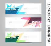 abstract banner design template ... | Shutterstock .eps vector #1504875746