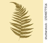 drawing of a green leaf of fern ... | Shutterstock .eps vector #1504877516