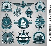 set of vintage label with a... | Shutterstock .eps vector #150488120