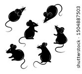 set of mice on a white...   Shutterstock .eps vector #1504887503
