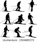 Set Mountain Skier Speeding...