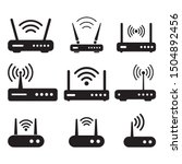 Router Related Signal Icon...