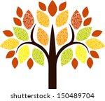 decorative fall tree