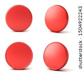 blank red button or badge... | Shutterstock . vector #1504922243