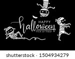 happy halloween greeting card... | Shutterstock .eps vector #1504934279
