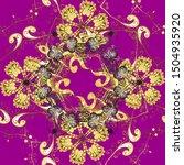 boho abstract seamless pattern. ... | Shutterstock .eps vector #1504935920