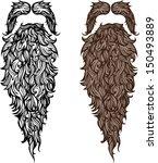 beard and mustache | Shutterstock .eps vector #150493889