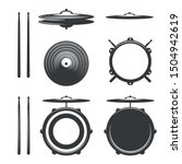 Elements Of Drum Kit. Drumkit...