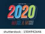 happy new year 2020 colorful... | Shutterstock .eps vector #1504942646