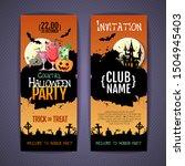 halloween disco cocktail party... | Shutterstock .eps vector #1504945403