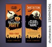 halloween disco party poster...   Shutterstock .eps vector #1504945406
