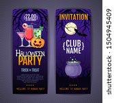 halloween disco cocktail party... | Shutterstock .eps vector #1504945409