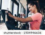 young happy and smiling woman... | Shutterstock . vector #1504946636