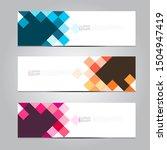 abstract banner design template ... | Shutterstock .eps vector #1504947419