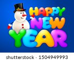 happy new year greeting.... | Shutterstock .eps vector #1504949993