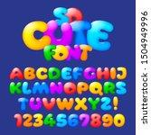 cute plump alphabet. vector set ... | Shutterstock .eps vector #1504949996