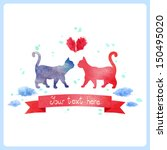 watercolor cats. | Shutterstock .eps vector #150495020