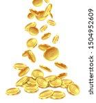 gold coins pile. golden coin... | Shutterstock . vector #1504952609