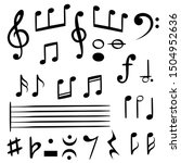 music notes. musical note key... | Shutterstock . vector #1504952636