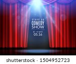 red curtain scene. stage open... | Shutterstock . vector #1504952723