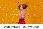 cheerful funny young woman with ... | Shutterstock . vector #1504958336