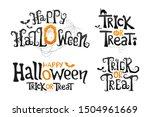 set of happy halloween and... | Shutterstock .eps vector #1504961669