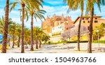 palma de mallorca cathedral la... | Shutterstock . vector #1504963766