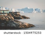 Aerial View Of Arctic City Of...