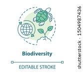 Biodiversity Concept Icon....