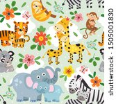 seamless pattern with cute...   Shutterstock .eps vector #1505001830