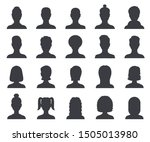 silhouette avatar. male and... | Shutterstock .eps vector #1505013980