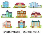 flat cottages. modern cottage... | Shutterstock .eps vector #1505014016