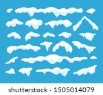snow caps. snowdrifts and... | Shutterstock .eps vector #1505014079