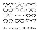 glasses silhouette. fashioned... | Shutterstock .eps vector #1505023076