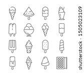 ice cream icon. shake fruit... | Shutterstock .eps vector #1505023109