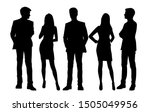 vector silhouettes of  men and... | Shutterstock .eps vector #1505049956