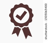 approved icon. medal  award... | Shutterstock .eps vector #1505065400