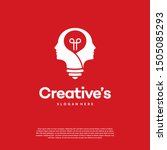 creative people logo with light ... | Shutterstock .eps vector #1505085293