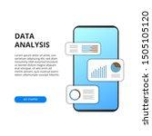 mobile app data analysis from... | Shutterstock .eps vector #1505105120