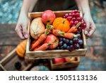 Fall Harvest Cornucopia. Autumn ...