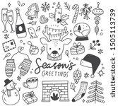set of christmas design element ... | Shutterstock .eps vector #1505113739