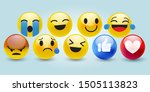 high quality 3d vector round... | Shutterstock .eps vector #1505113823
